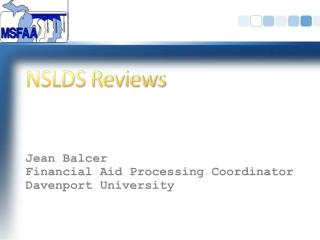 NSLDS Reviews