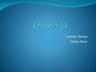 Chapter 11.