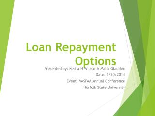 Loan Repayment Options