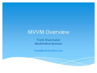 MVVM Overview