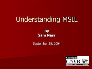 Understanding MSIL