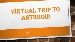 Virtual Trip to Asteroid
