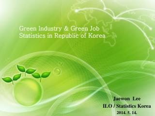 Green Industry & Green Job Statistics in Republic of Korea