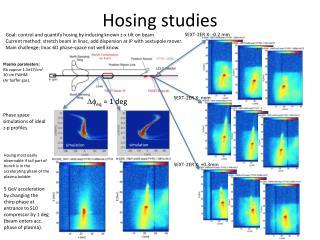 Hosing studies