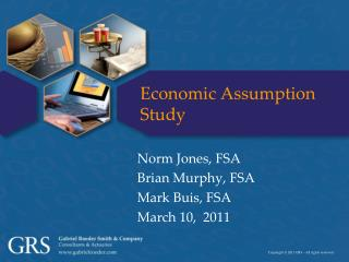 Economic Assumption Study