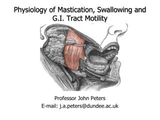Physiology  of Mastication, Swallowing and G.I. Tract Motility