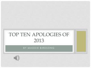 Top Ten Apologies of 2013