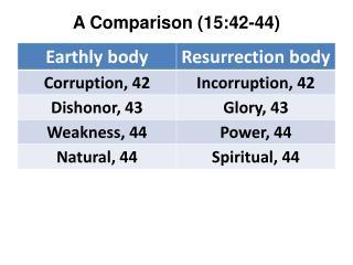 A Comparison (15:42-44)