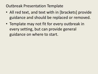 Outbreak Presentation Template
