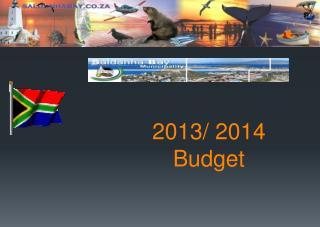 2013/ 2014 Budget