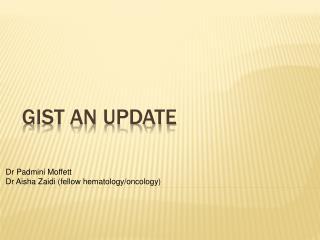 Gist an update