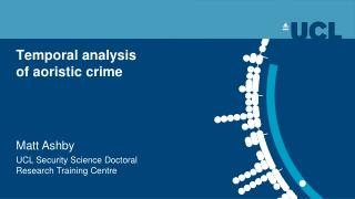 Temporal analysis  of aoristic crime