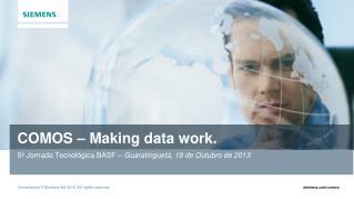 COMOS – Making data work.