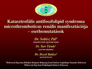 Dr. Soltész Pál 1