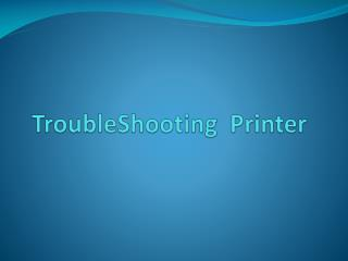 TroubleShooting  Printer