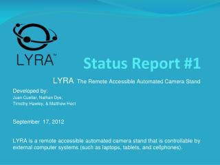 Status Report #1