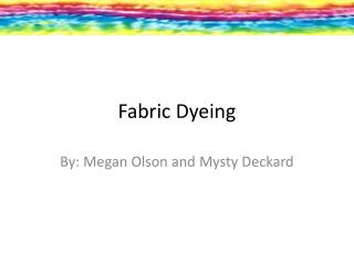 Fabric Dyeing