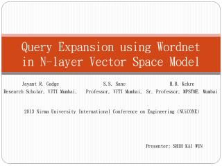 Query Expansion using Wordnet in N-layer Vector Space Model