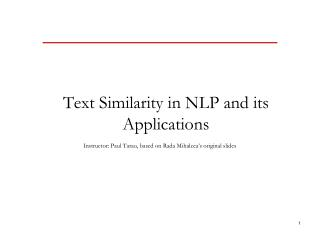 Text Similarity in NLP and its  Applications