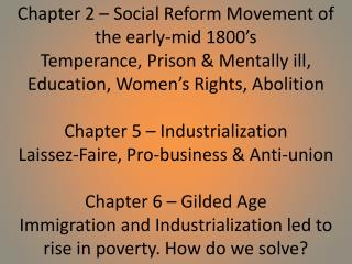 Chapter 8   The Progressive Movement