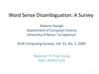 Word Sense Disambiguation: A Survey
