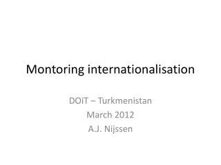 Montoring internationalisation
