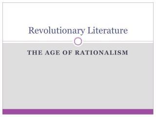 Revolutionary Literature
