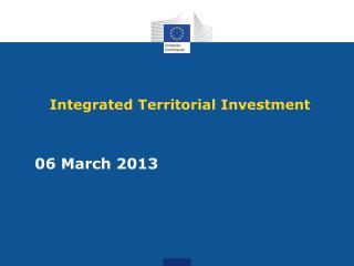 Integrated T erritorial Investment