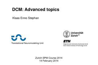 Zurich SPM Course 2014 14 February 2014