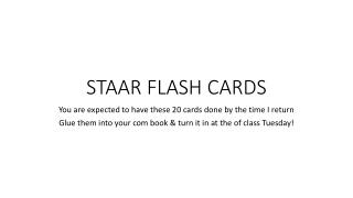 STAAR FLASH CARDS