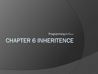 Chapter 6 inheritence