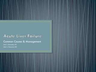 Acute Liver Failure