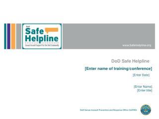DoD Safe Helpline