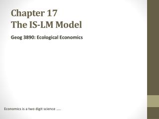 Chapter 17 The IS-LM Model
