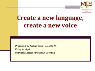 Create a new language, create a new voice