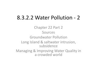 8.3.2.2 Water Pollution - 2