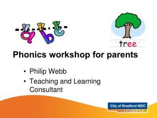Phonics workshop for parents