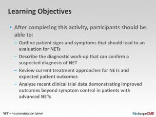 Recognition, Diagnosis, and Management of Neuroendocrine Tumors