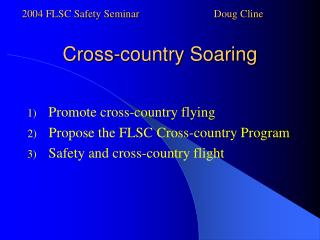 Cross-country Soaring
