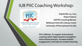 IU8 PIIC Coaching Workshop:
