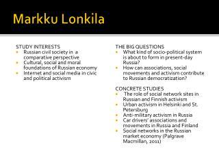 Markku  Lonkila
