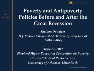 Poverty and Antipoverty Policies Before and After the Great Recession