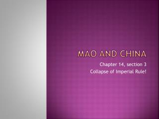 Mao and china
