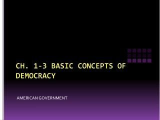 CH. 1-3 BASIC CONCEPTS OF DEMOCRACY