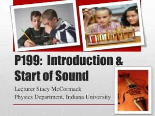 P199:  Introduction & Start of Sound