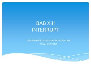 BAB XIII INTERRUPT