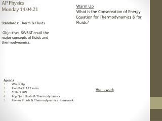 A P Physics Monday 14.04.21