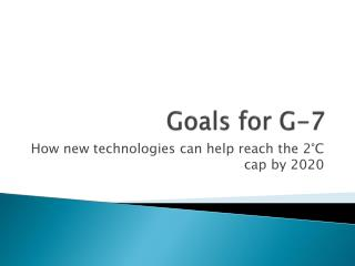 Goals for G-7