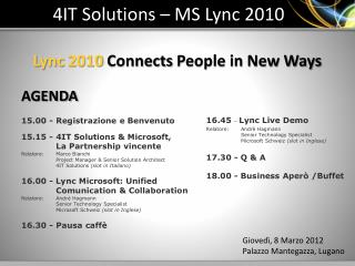 4IT Solutions – MS  Lync  2010