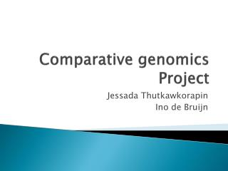 Comparative genomics Project